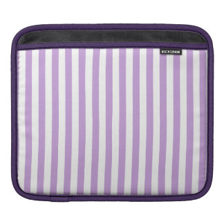 Thin Stripes - White and Wisteria iPad Sleeve
