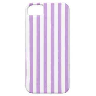 Thin Stripes - White and Wisteria iPhone 5 Cover