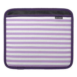 Thin Stripes - White and Wisteria Sleeves For iPads