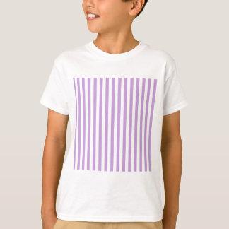 Thin Stripes - White and Wisteria T-Shirt