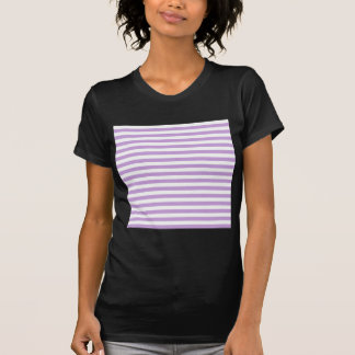 Thin Stripes - White and Wisteria T-Shirt