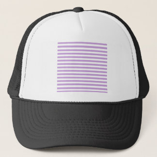 Thin Stripes - White and Wisteria Trucker Hat