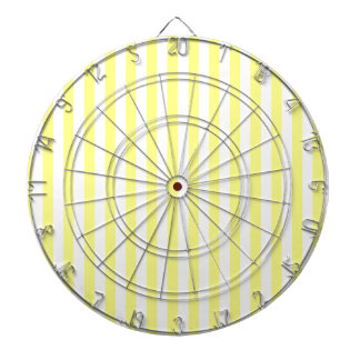 Thin Stripes - White and Yellow Dart Board