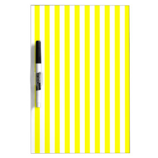 Thin Stripes - White and Yellow Dry Erase Boards