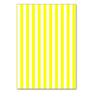 Thin Stripes - White and Yellow Table Card