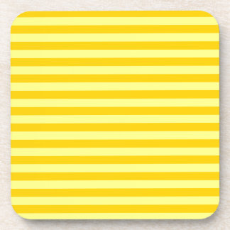 Thin Stripes - Yellow and Dark Yellow Beverage Coaster
