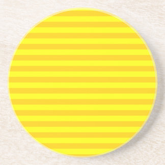 Thin Stripes - Yellow and Dark Yellow Drink Coasters