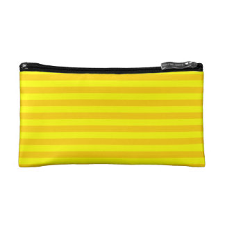 Thin Stripes - Yellow and Dark Yellow Makeup Bag