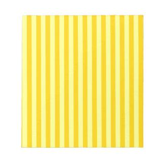 Thin Stripes - Yellow and Dark Yellow Notepad