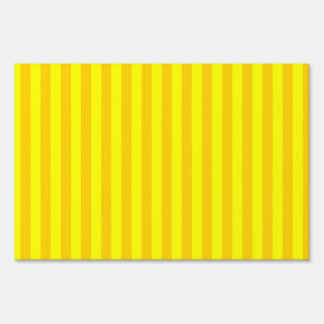 Thin Stripes - Yellow and Dark Yellow Sign