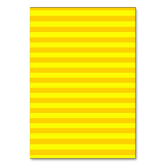 Thin Stripes - Yellow and Dark Yellow Table Card