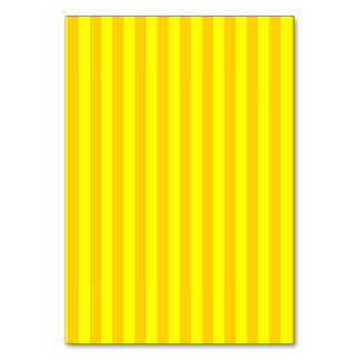 Thin Stripes - Yellow and Dark Yellow Table Cards