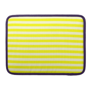 Thin Stripes - Yellow and Light Yellow Sleeve For MacBook Pro
