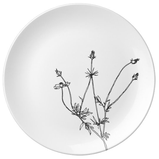 Thin to flower donates with pilot porcelain plates