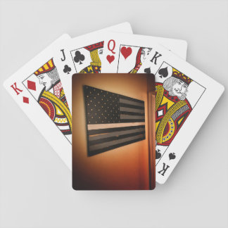 Thin White Line Flag Playing Cards