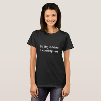Thing of Darkness Joke Funny Shakespeare Shirt