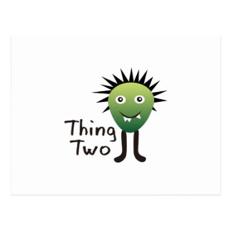 THING TWO POSTCARD
