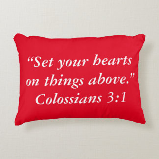 """Things Above"" Scripture Pillow"