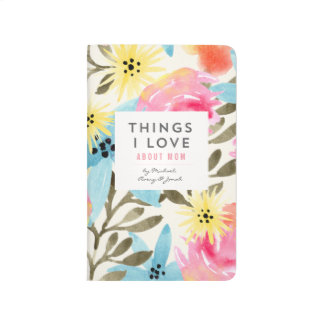 """Things I love About Mom"" Floral Journal"