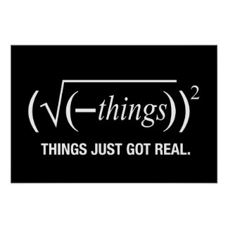 things just got real poster