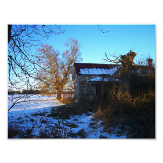Things Past - Snow Scene, Wilson County NC Photo Art