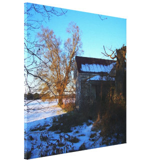 Things Past - Southern Snow Scene, NC Canvas Print
