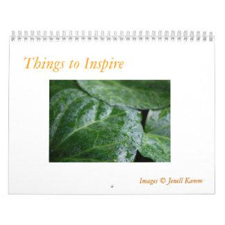 Things that Inspire Wall Calendar