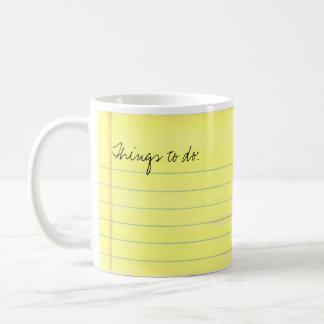 Things to do coffee mug