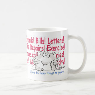 THINGS TO IGNORE COFFEE MUG