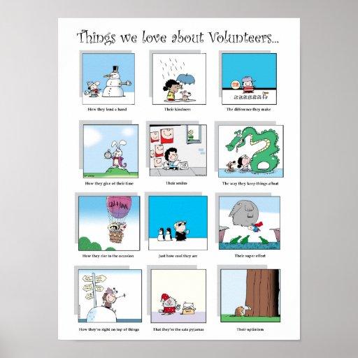 Things We Love About Volunteers poster