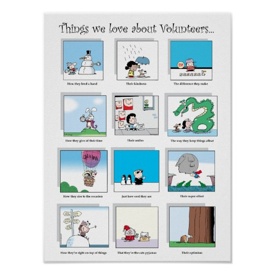Things We Love About Volunteers poster