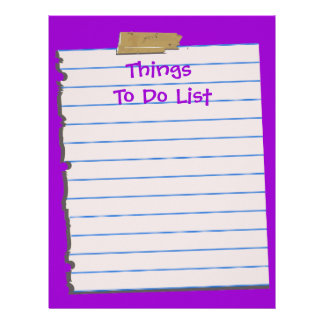 ThingsTo Do List  Letterhead Stationery
