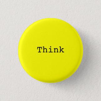 Think 1 Inch Round Button