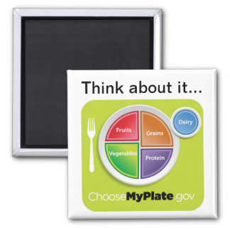 Think about it Choose MyPlate Magnet