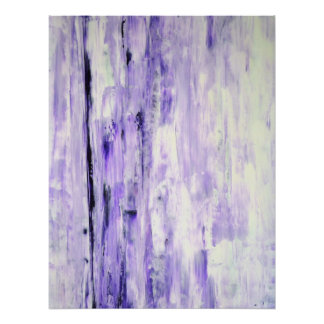 'Think About It' Lavender Abstract Art Poster