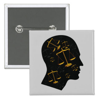 Think About Justice | Law 2 Inch Square Button