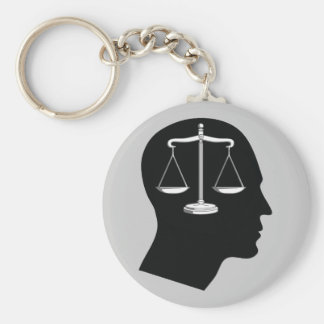 Think About Justice | Law Mind Keychain