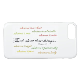 Think about such things... Philippians 4:8 iPhone 8/7 Case