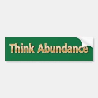 Think Abundance Bumper Sticker