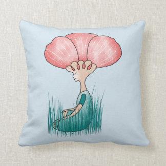 Think Beautiful Meditation Throw Pillow
