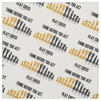 Think Before You Act Play Chess Reflective Chess Fabric