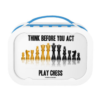 Think Before You Act Play Chess Reflective Chess Lunch Box