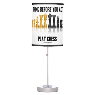 Think Before You Act Play Chess Reflective Chess Table Lamp