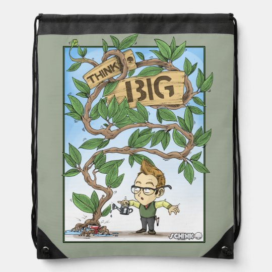 Think Big Drawstring Bag