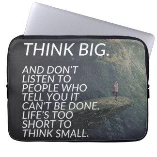 THINK BIG - Inspirational Words Laptop Sleeve