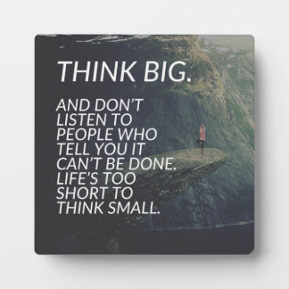 THINK BIG - Inspirational Words Plaque