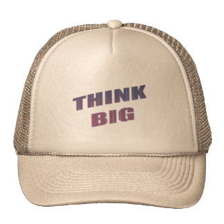Think Big Motivational Phrases Trucker Hat