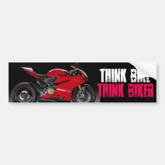 Think Bike Graphic Bumper Sticker