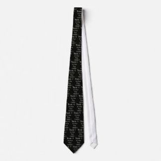 Think black tie