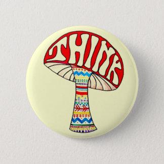 Think Button. 2 Inch Round Button